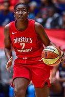 Washington, DC - August 31, 2018: Washington Mystics guard Ariel Atkins (7) goes up for a layup during semi finals playoff game between Atlanta Dream and Wasington Mystics at the Charles Smith Center at George Washington University in Washington, DC. (Photo by Phil Peters/Media Images International)