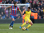 Crystal Palace's Joe Ledley tussles with Arsenal's Francis Coquelin<br /> <br /> Barclays Premier League - Crystal Palace  vs Arsenal  - Selhurst Park - England - 21st February 2015 - Picture David Klein/Sportimage