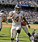 San Diego Chargers full back Lorenzo Neal (41) on Sunday, September 28, 2003, in Oakland, California. The Raiders defeated the Chargers 34-31 in overtime.