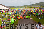 Huge numbers - all catered for at the Cahersiveen Food Station on the Ring of Kerry Cycle.