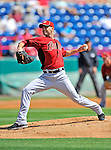 7 March 2011: Houston Astros' pitcher J.A. Happ on the mound during a Spring Training game against the Washington Nationals at Space Coast Stadium in Viera, Florida. The Nationals defeated the Astros 14-9 in Grapefruit League action. Mandatory Credit: Ed Wolfstein Photo