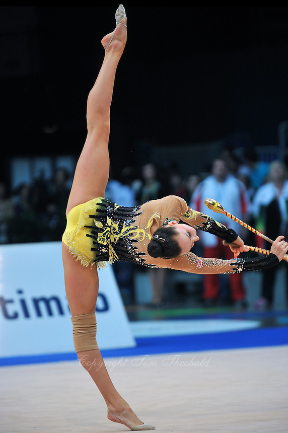 Liubov Charkashyna of Belarus performs at 2011 World Cup at Portimao, Portugal on May 01, 2011.
