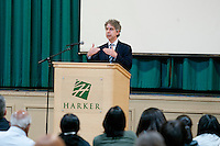 The Harker School - SW - Schoolwide - Harker Speaker Series Joel Bakan, author of acclaimed books 'The Corporation' and 'Childhood Under Seige'...2012-02-22...Photo by Kyle Cavallaro