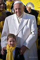 Pope Francis during of a weekly general audience at St Peter's square in Vatican.January 24, 2018