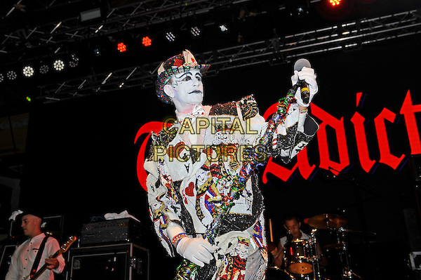 BLACKPOOL, ENGLAND - AUGUST 7: Keith 'Monkey' Warren of 'The Adicts' performing at Rebellion Festival, Empress Ballroom on August 7, 2016 in Blackpool, England.<br /> CAP/MAR<br /> &copy;MAR/Capital Pictures