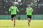 11.09.2017, Trainingsgelaende, Bremen, GER, 1.FBL, Training SV Werder Bremen<br /> <br /> im Bild<br /> Ishak Belfodil (Werder Bremen #29), Aron J&oacute;hannsson / Johannsson (Werder Bremen #9), <br /> <br /> Foto &copy; nordphoto / Ewert