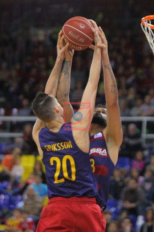League ACB-ENDESA 2016/2017 - Game: 21.<br /> FC Barcelona Lassa vs ICL Manresa: 92-72.<br /> Markus Erikson &amp; Vitor Faverani.