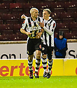 ST MIRREN'S JIM GOODWIN (6) CELEBRATES WITH DAVID BARRON AFTER HE SCORES THE EQUALISER..17/12/2011 sct_jsp010_motherwell_v_st_mirren     .Copyright  Pic : James Stewart.James Stewart Photography 19 Carronlea Drive, Falkirk. FK2 8DN      Vat Reg No. 607 6932 25.Telephone      : +44 (0)1324 570291 .Mobile              : +44 (0)7721 416997.E-mail  :  jim@jspa.co.uk.If you require further information then contact Jim Stewart on any of the numbers above.........