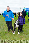Enjoying the 10th Annual Maurice Collins Memorial Vintage day on the lands of Gerard McCarthy Banna West, Ardfert on Sunday were Willie Kelly and  Grace Costello with Cleo the Dog