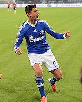 FUSSBALL   1. BUNDESLIGA   SAISON 2012/2013    18. SPIELTAG FC Schalke 04 - Hannover 96                           18.01.2013 Jubel nach dem 4:2: Ciprian Marica (FC Schalke 04)