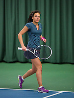 Rotterdam, The Netherlands, 07.03.2014. NOJK ,National Indoor Juniors Championships of 2014, 12and 16 years, Phillis Vanenburg (NED)<br /> Photo:Tennisimages/Henk Koster