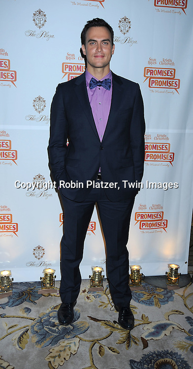 "actor Cheyenne Jackson arriving at The Broadway Opening Night party of the revival of ""Promises, Promises"" on April  25, 2010 at The Plaza Hotel  in New York City."
