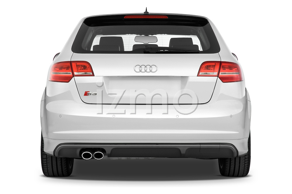 Straight rear view of a 2009 - 2013 Audi S3 Sportback 5-Door Hatchback 4WD.
