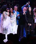 Cher with the cast during the Broadway Opening Night Curtain Call of 'The Cher Show'  at Neil Simon Theatre on December 3, 2018 in New York City.