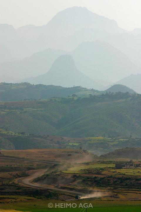 AXUM, TIGRAY/ETHIOPIA..The Adua Mountains at the Eritrean border..(Photo by Heimo Aga)