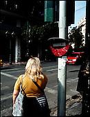 Athens 23.10.2011 Greece<br /> Financial District in Athens.<br /> For many years Greek governments increased spending despite unability to settle the public debt reaching now the amount of 300 billion euros. But that is not the sole problem. The Greek economy crises is also due to the corruption that pervades every corner of day to day life in the country. Transparency International proves that bribery, patronage and other public corruption costs .Greece 8% of its GDP annually, placing the counrty among top of the list of countries drowning in systemic corruption.<br /> Photo: Adam Lach / Napo Images<br /> <br /> Dzielnica finansowa w Atenach.<br /> Przez wiele lat greckie rzady zwiekszaly wydatki bez pokrycia, wynikiem tego jest skumulowanie dlugu publicznego do potwornych rozmiarow - ok 300 mld euro. Lecz to nie jedyny problem. Przyczyna greckiego kryzysu jest r&oacute;wnie? korupcja systemowa. Jak dowodzi Organizacja Transparncy International, rocznie, greckie gospodarstwa domowe wydaja na lapowki prawie 800 mln euro. To plasuje Ateny na czele listy krajow pograzonych w systemowej korupcji.<br /> Fot: Adam Lach / Napo Images