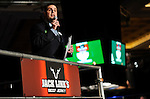 WSOP Tournament Director Jack Effel makes announcements on Day 1B.