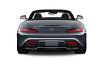 Straight rear view of a 2018 Mercedes Benz AMG GT AMG GT 2 Door Roadster stock images