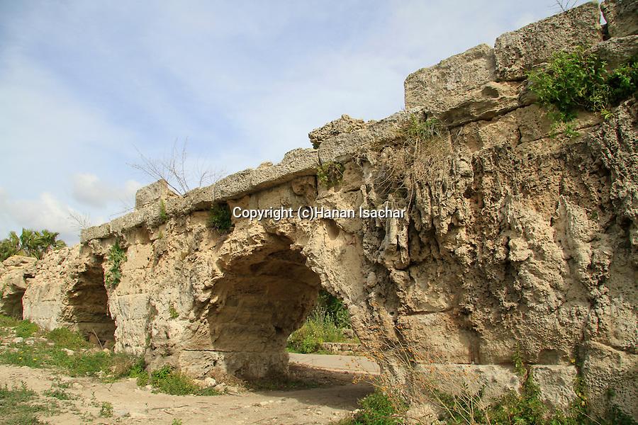 Israel, Lower Galilee, the Roman aqueduct near Beit Hanania