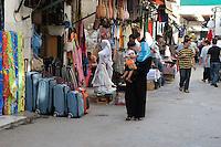 Tripoli, Libya - Medina Street Scene, Luggage, Clothing