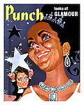 Punch Front Cover - 26th May 1971 - Punch looks at Glamour. Elizabeth Taylor and Richard Burton