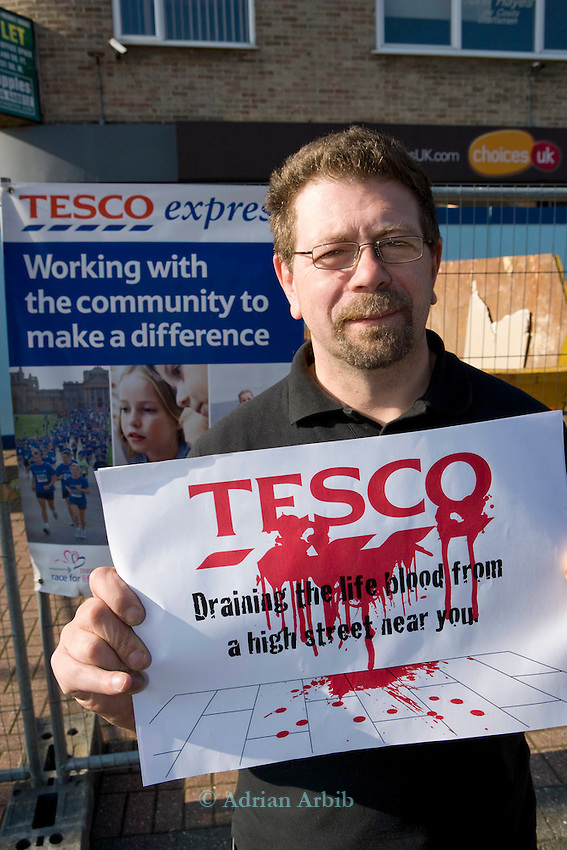 Anti Tesco demo.  Amersham, Bucks