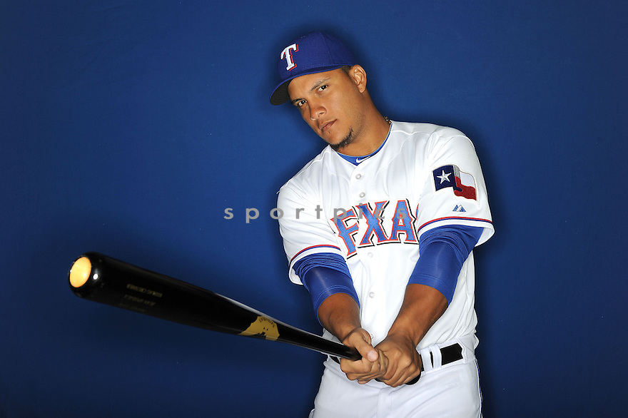 Texas Rangers Juan Apodaca at media photo day during spring training on February 20, 2013 in Surprise, AZ