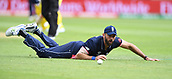 June 10th 2017, Edgbaston, Birmingham, England;  ICC Champions Trophy Cricket, England versus Australia; Liam Plunkett of England dives for the ball