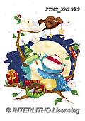 Marcello, CHRISTMAS ANIMALS, WEIHNACHTEN TIERE, NAVIDAD ANIMALES, paintings+++++,ITMCXM1979,#XA# ,owls