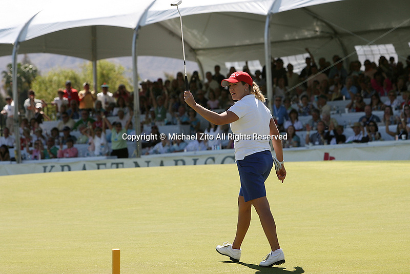 04/05/09 Rancho Mirage, CA:  Cristie Kerr during the final round of the Kraft Nabisco Championship held at Mission Hills Country Club.. Brittany Linciome Won the Tournament with an Eagle on the 18th hole