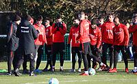 Besprechung mit Trainer Niko Kovac (Eintracht Frankfurt) - 14.02.2018: Eintracht Frankfurt Training, Commerzbank Arena