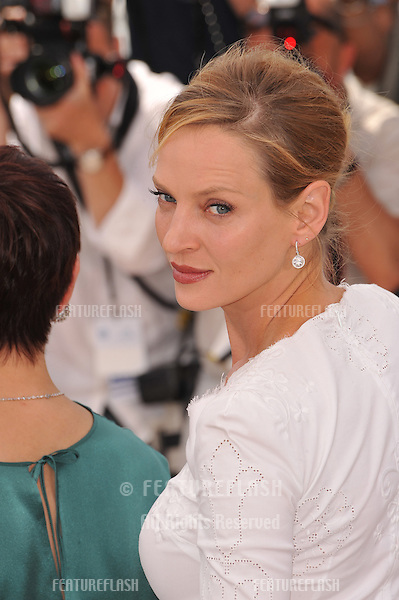 Uma Thurman at the photocall for the jury at the 64th Festival de Cannes..May 11, 2011  Cannes, France.Picture: Paul Smith / Featureflash