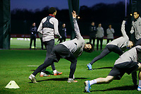 26th November 2019; Anfield, Liverpool, Merseyside, England; UEFA Champions League, Liverpool versus Napoli, Liverpool training ; Mohamed Salah of Liverpool during today's open training session at the club's Melwood training ground ahead of tomorrow's Champions League group match against SSC Napoli