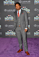 Joe Robert Cole at the world premiere for &quot;Black Panther&quot; at the Dolby Theatre, Hollywood, USA 29 Jan. 2018<br /> Picture: Paul Smith/Featureflash/SilverHub 0208 004 5359 sales@silverhubmedia.com