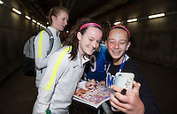 San Diego, CA - January 23, 2015: Girls Fantasy Camp participants tour Qualcomm Stadium and attend the USWNT vs. Ireland match.