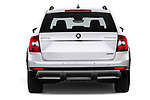 Straight rear view of a 2017 Skoda Octavia Combi Scout 5 Door Wagon stock images