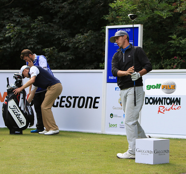 Chase Koepka (USA) on the 11th tee during Round 1 of the Northern Ireland Open at Galgorm Castle Golf Club, Ballymena Co. Antrim. 10/08/2017<br /> Picture: Golffile   Thos Caffrey<br /> <br /> <br /> All photo usage must carry mandatory copyright credit     (&copy; Golffile   Thos Caffrey)