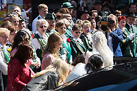 Mariage du Prince Ernst junior de Hanovre et de Ekaterina Malysheva &agrave; l'&eacute;glise Markkirche &agrave; Hanovre.<br /> Allemagne, Hanovre, 8 juillet 2017.<br /> Wedding of Prince Ernst Junior of Hanover and Ekaterina Malysheva at the Markkirche church in Hanover.<br /> Germany, Hanover, 8 july 2017<br /> Pic :  Alexandra of Hanover &amp; bride Ekaterina Malysheva