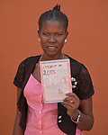 A student at the Solidarity Teacher Training College (STTC) in Yambio, South Sudan, holds a story she created. The STTC is run by Solidarity with South Sudan, an international network of Catholic groups working to train teachers, health workers and pastoral agents throughout the African country.