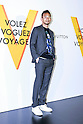 Former Japanese football player Hidetoshi Nakata poses for the cameras during the opening celebration for Louis Vuitton's ''Volez, Voguez, Voyagez'' exhibition on April 21, 2016, Tokyo, Japan. After a successful run in Paris, the luxury fashion brand now brings the instalment to Tokyo, which traces Louis Vuitton's history from 1854 to today. Some 1,000 objects, including rare trunks, photographs and handwritten client cards will be displayed. Japanese room will be set up specially for Japan, showcasing such rare items as makeup and tea ceremony trunks for kabuki actor Ebizo XI. The exhibition will be open to the public free of charge from April 23 to June 19. (Photo by Rodrigo Reyes Marin/AFLO)