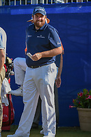 Shane Lowry (IRL) shares a laugh on 1 during Round 3 of the Zurich Classic of New Orl, TPC Louisiana, Avondale, Louisiana, USA. 4/28/2018.<br /> Picture: Golffile | Ken Murray<br /> <br /> <br /> All photo usage must carry mandatory copyright credit (&copy; Golffile | Ken Murray)