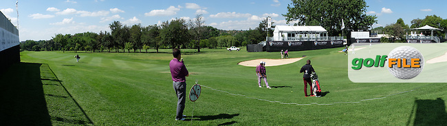 Panoramic view of the 18th green during the practice day at the SA Open Championship 2013 at the Glendower Golf Club, Johannesburg, South Africa. Picture:  David Lloyd / www.golffile.ie