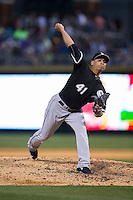 Chicago White Sox relief pitcher Javy Guerra (41) in action against the Charlotte Knights at BB&T Ballpark on April 3, 2015 in Charlotte, North Carolina.  The Knights defeated the White Sox 10-2.  (Brian Westerholt/Four Seam Images)
