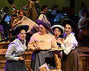 "Cardiff, UK. 04.06.2018. Welsh National Opera's ""Rhondda Rips It Up!"" in dress rehearsal, at the Wales Millennium Centre, Cardiff. <br /> ""Rhondda Rips It Up!"" is centred on the life and adventures of that unsung heroine of the Welsh Suffrage movement, Margaret Haig Thomas, the Viscountess Rhondda.<br /> Suffragette, activist and entrepreneur, Lady Rhondda paved the way for the equal rights for women. As well as campaigning tirelessly for women's suffrage, she became the lightning rod for women's efforts during WW1, survived the sinking of the Lusitania and created the radical feminist magazine Time and Tide. Her indefatigable efforts and endeavours were finally rewarded when, in 1918, women over the age of thirty were enfranchised.<br /> This thigh-slapping romp through the world of suffrage and song is told through the lens of music-hall and fittingly sports an all-female cast and creative team. The audience is guided through the story by Emcee (Lesley Garrett) following the escapades of Lady Rhondda (Madeleine Shaw) and her brave battalion of suffragettes as they fearlessly takes on Peers, politicians and post-boxes in their struggle for women's rights.<br /> WNO will showcase this woman's fight for liberty, survival and equality in a number of ways: from community events, talks and schools workshops to exhibitions, interactive digital experiences as well as the production itself.<br /> The production will have its World Premiere in Newport before touring throughout June 2018, with an Autumn tour in October and November to follow. The production will tour to Newport, Birmingham, Carmarthen, Cardiff, Brecon, London, Malvern, Treorchy, Newtown, Swansea, Oxford, Bangor, Swindon, Northampton, Mold, and Winchester.<br /> <br /> Photograph © Jane Hobson."