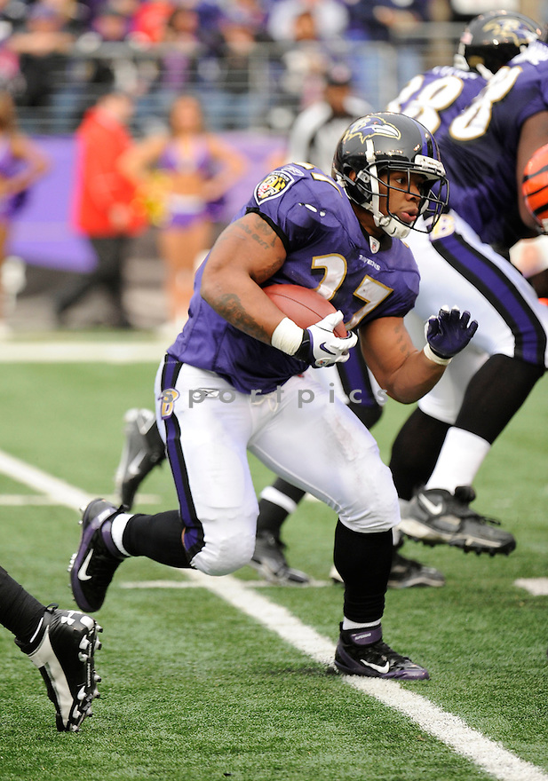 RAY RICE, of the Baltimore Ravens, in action during the Ravens game against the Cincinnati Bengals on November 20, 2011 at M&T Bank Stadium in Baltimore, MD. Baltimore beat Cincinnati 31-24.