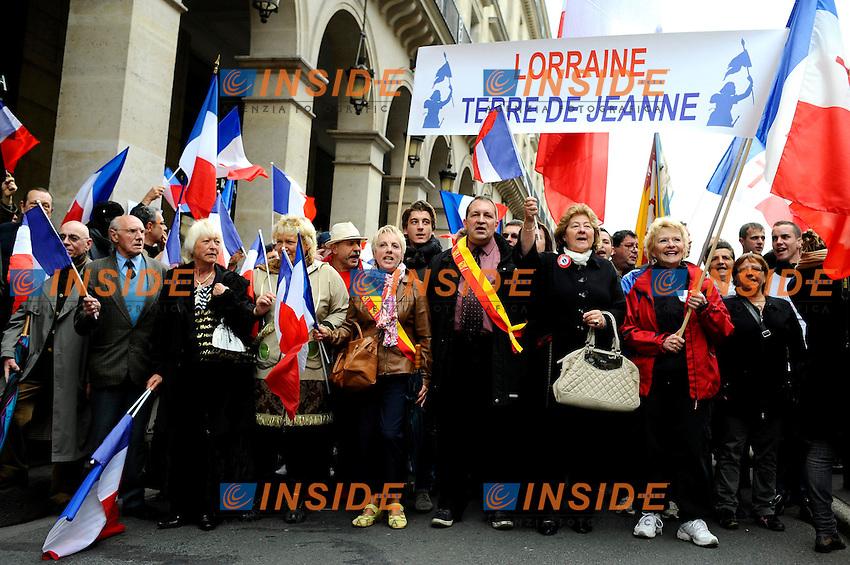 Manifestazione Fronte Nazionale.Parigi 1/5/2012.Foto Insidefoto / Gerard Roussel / Panoramic.ITALY ONLY