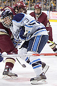 Dan Bertram, Jon Jankus (Nathan Gerbe) - The Boston College Eagles defeated the University of Maine Black Bears 4-1 in the Hockey East Semi-Final at the TD Banknorth Garden on Friday, March 17, 2006.