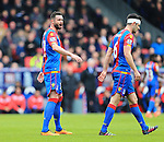 Crystal Palace's Damien Delaney talks to Scott Dann<br /> <br /> - English Premier League - Crystal Palace vs Liverpool  - Selhurst Park - London - England - 6th March 2016 - Pic David Klein/Sportimage
