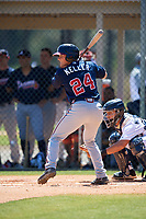 Atlanta Braves Bradley Keller (24) during a Minor League Spring Training game against the Detroit Tigers on March 22, 2018 at the TigerTown Complex in Lakeland, Florida.  (Mike Janes/Four Seam Images)