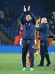 Tottenham's Mauricio Pochettino celebrates at the final whistle during the Premier League match at the King Power Stadium, Leicester. Picture date: May 18th, 2017. Pic credit should read: David Klein/Sportimage